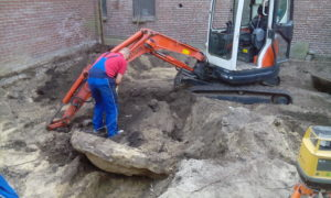Grondwerk en bouwrijp maken tuin in Scheveningen, Zuid Holland