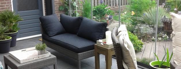 Tuinkamer met keramische buitentegels