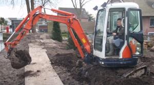 Graafmachine huren Zuid Holland