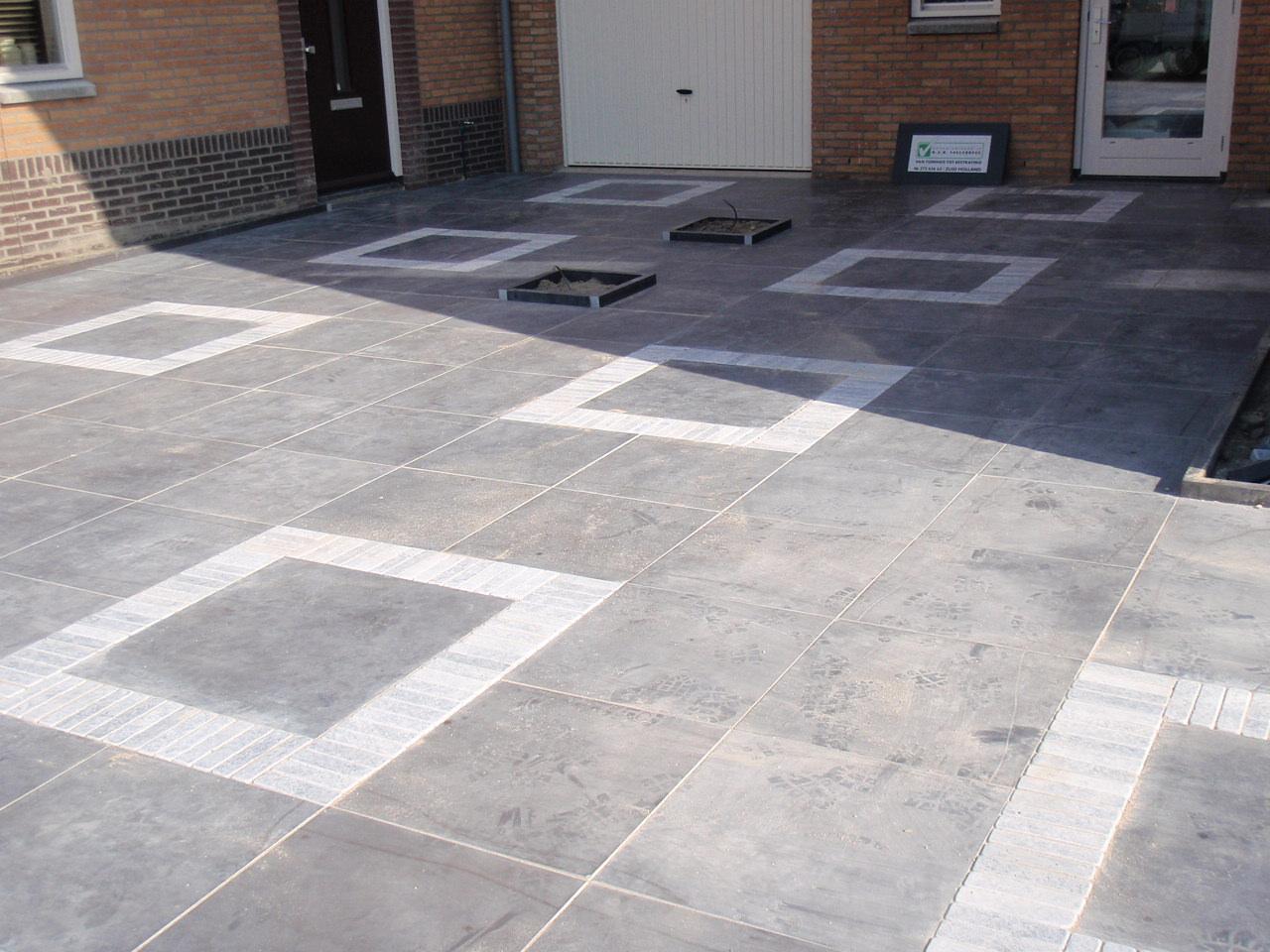 Oprit en achtertuin van natuursteen tegelcentrum - Doen redelijk oprit grind ...
