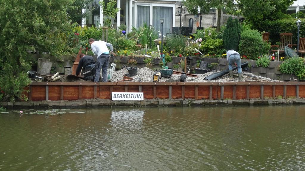 Beschoeiing plaatsen in Zoetermeer