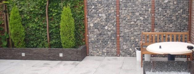 Graniet, composiet en beschoeiing