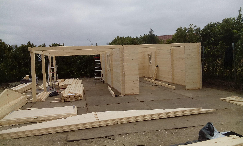 Blokhut Garage Veranda Montage Berkeltuinnl Lansingerland